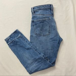 DYNDNM Cara Ladies Light Wash Denim Ripped Jeans